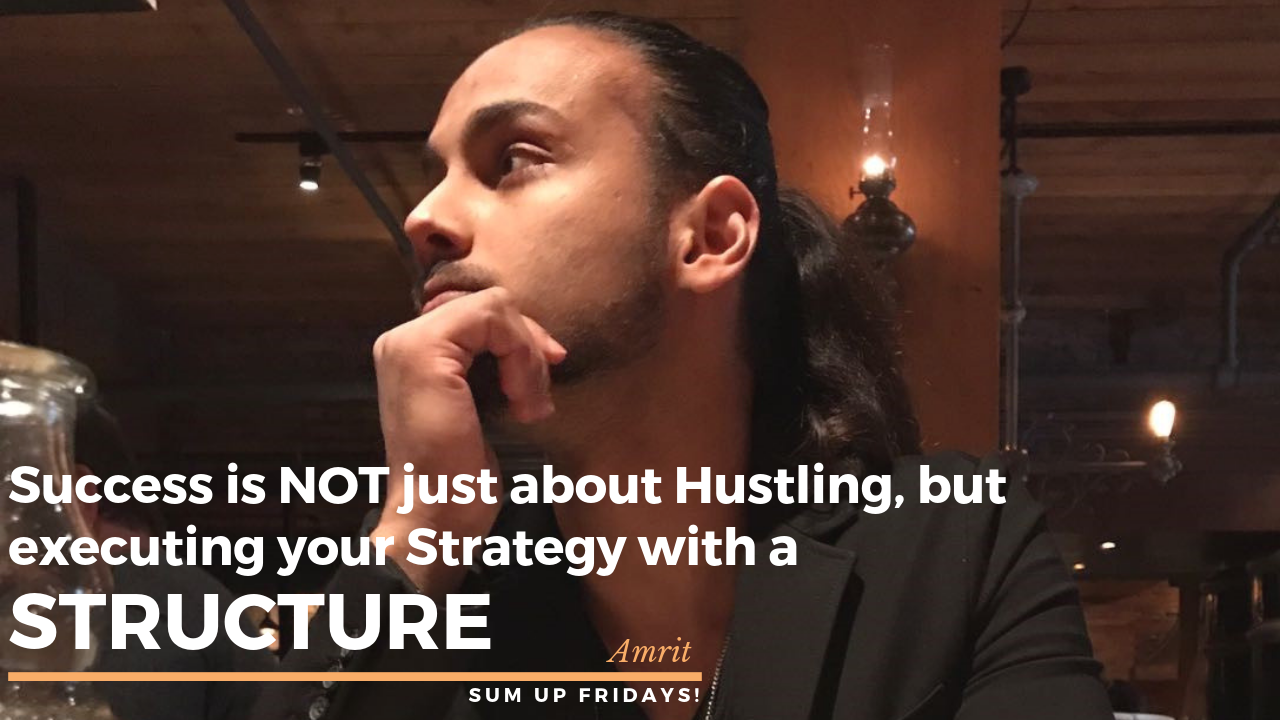 SUCCESS IS NOT JUST ABOUT HUSTLING